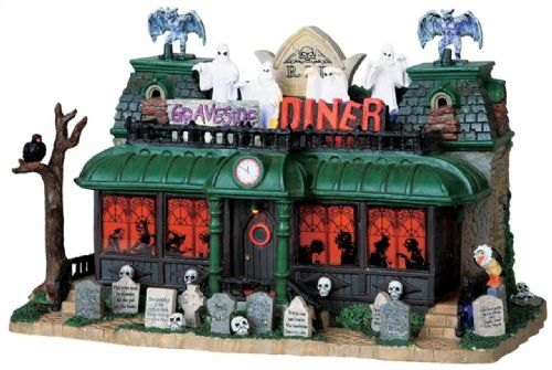 Lemax Spooky Town Graveside Diner